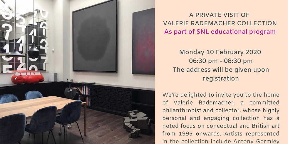 Visit & drinks at a private collection | As part of SNL Educational Program