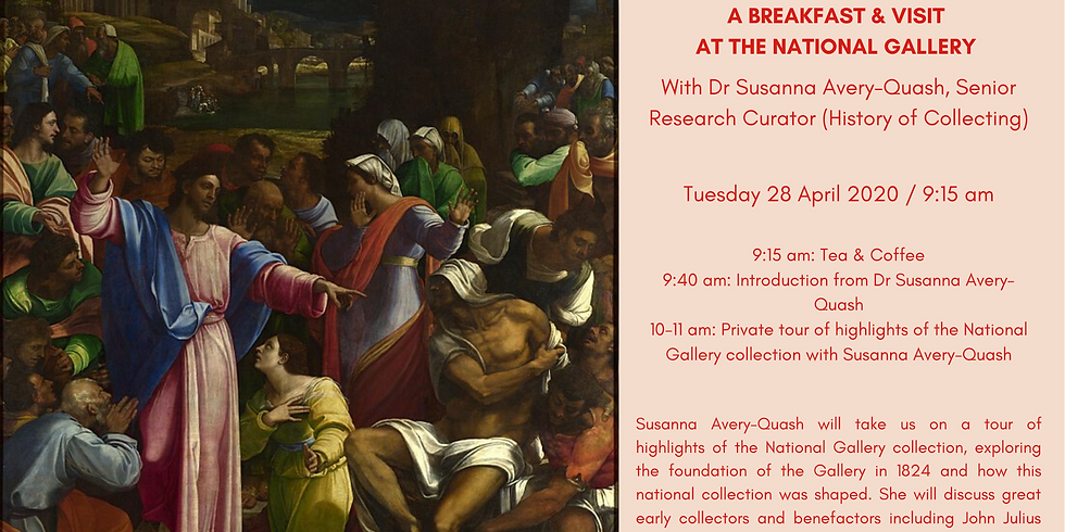 POSTPONED | Breakfast visit at the National Gallery