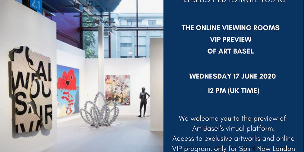 VIP opening to Art Basel online viewing room