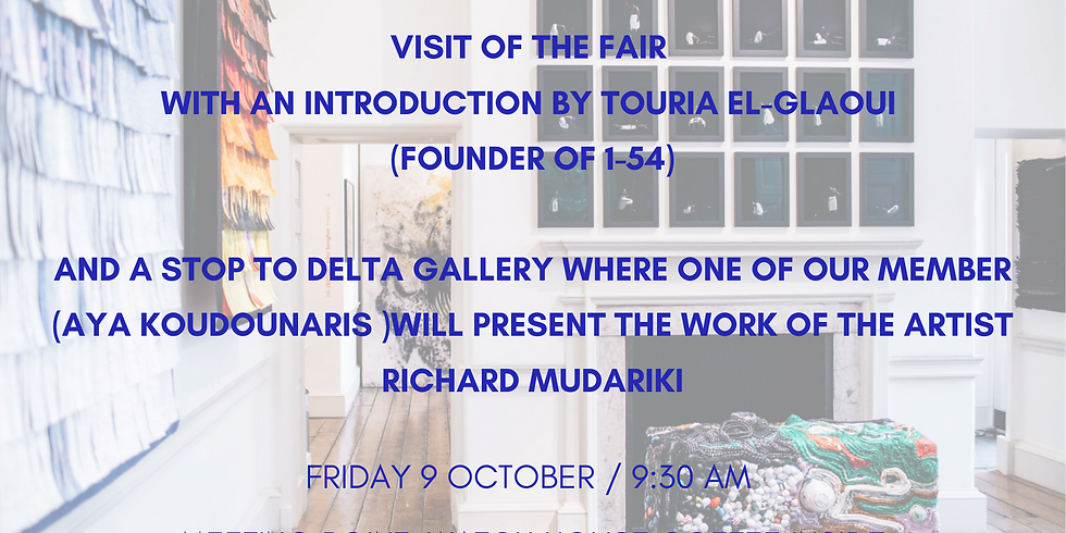 VIP pass offered for 1-54 and visit of the fair with an introduction by Touria El-Glaoui