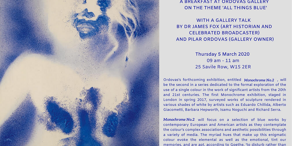 Breakfast & talk at Ordovas Gallery with Dr James Fox and Pilar Ordovas