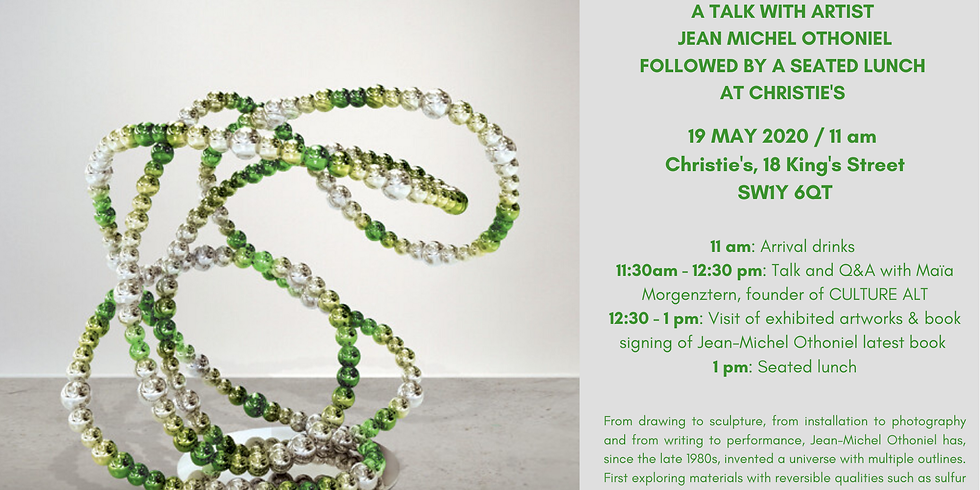 POSTPONED   Talk with artist Jean-Michel Othoniel followed by a seated lunch at Christie's