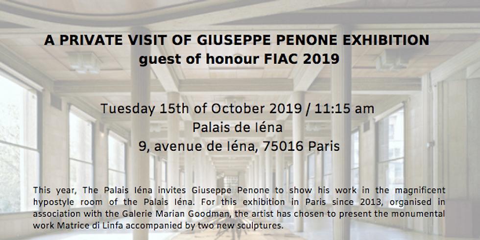 Private visit of Giuseppe Penone