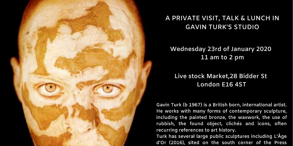 Private visit, talk & lunch in the studio of the artist Gavin Turk
