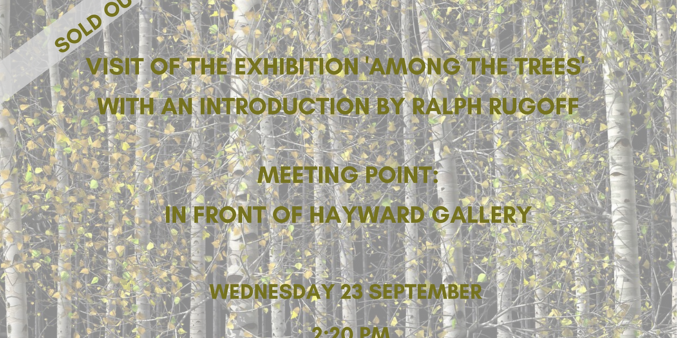 SOLD OUT - Visit of the exhibition 'Among the Trees' with an introduction by Ralph Rugoff