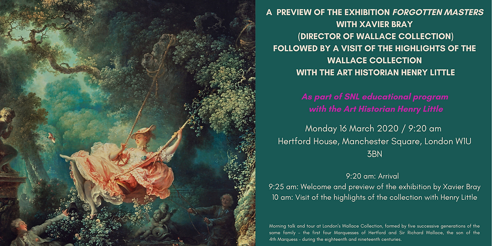 Preview of the exhibition 'Forgotten Master' with Xavier Bray (Director of Wallace Collection)