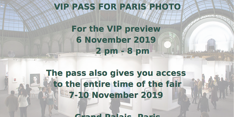 VIP Pass for Paris Photo