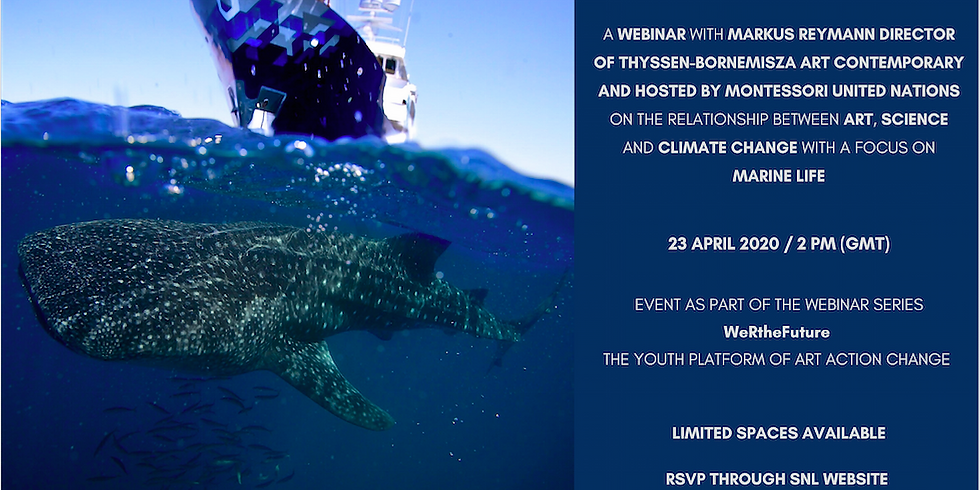 Webinar with Markus Reymann on the relationship between art, science a climate change with a focus on marine life.