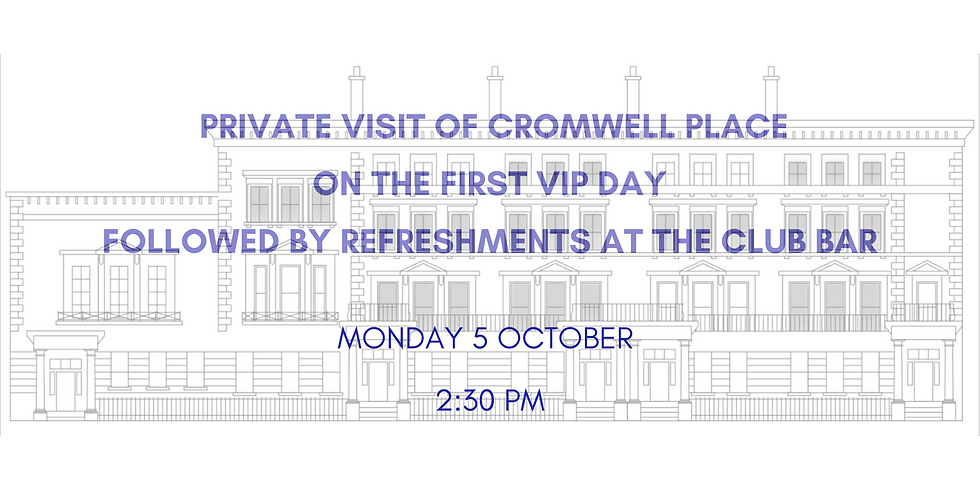 Private visit of Cromwell Place on their opening day