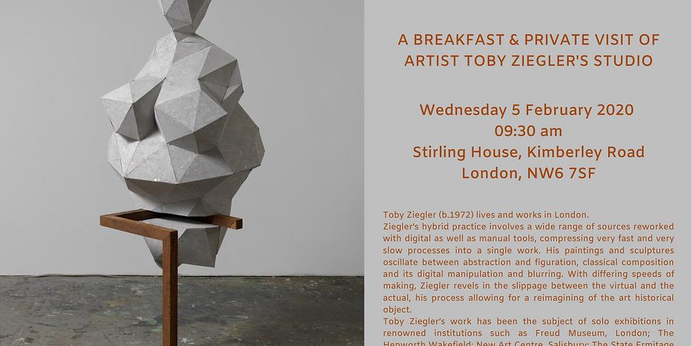 Breakfast & private visit of artist Toby Ziegler's studio