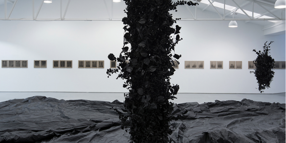 Webinar and live-visit of Joel Andrianomearisoa's exhibition at Sabrina Amrani Gallery