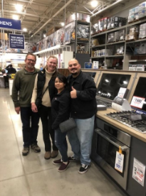 The Elks Lodge 2379 and Trevizo family begin their shopping spree!