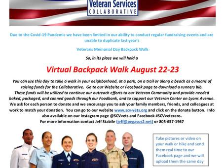 Virtual Memorial Backpack Walk August 2020