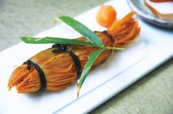 鮎の素麺巻き