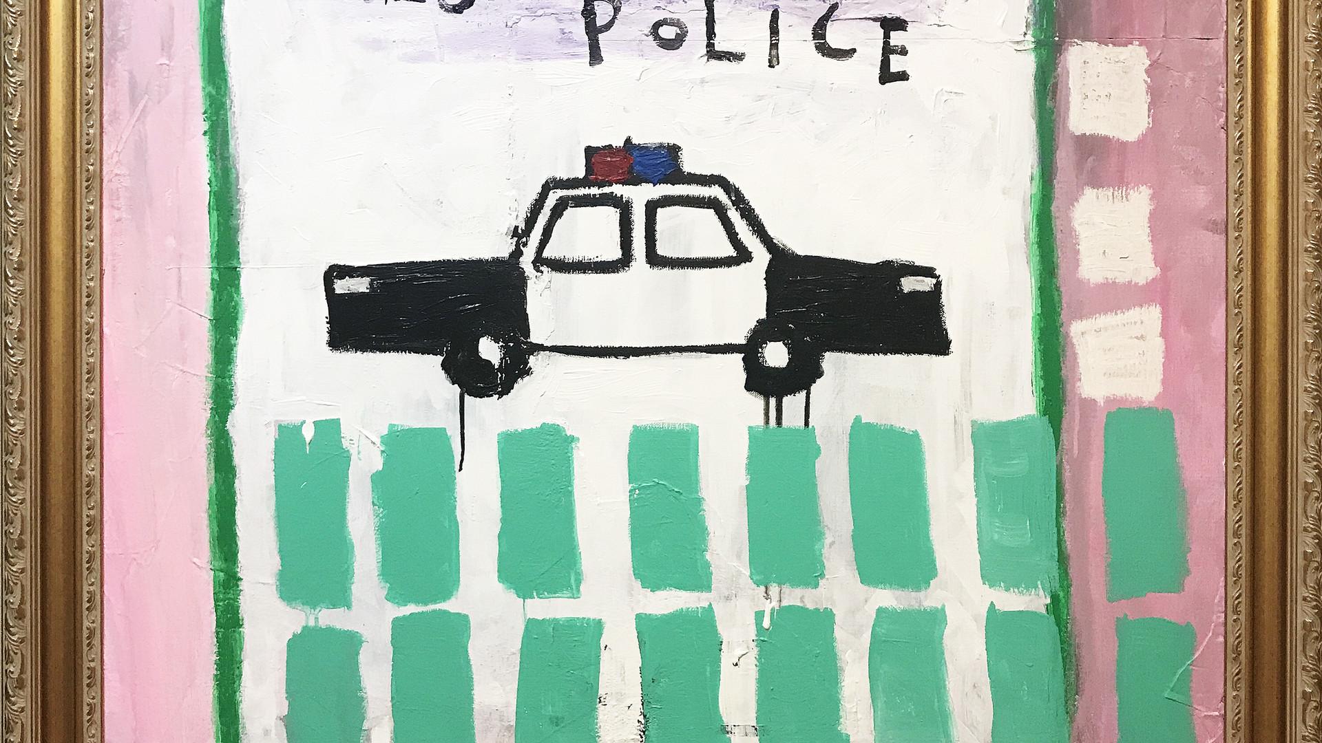 4 Yes Police, 2017, Mixed media on canva