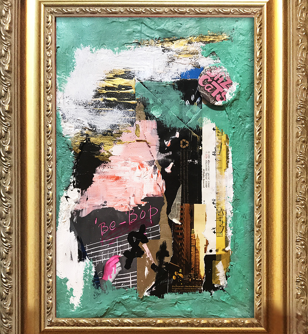 12 Jam #3, 2018, Mixed media on canvas,