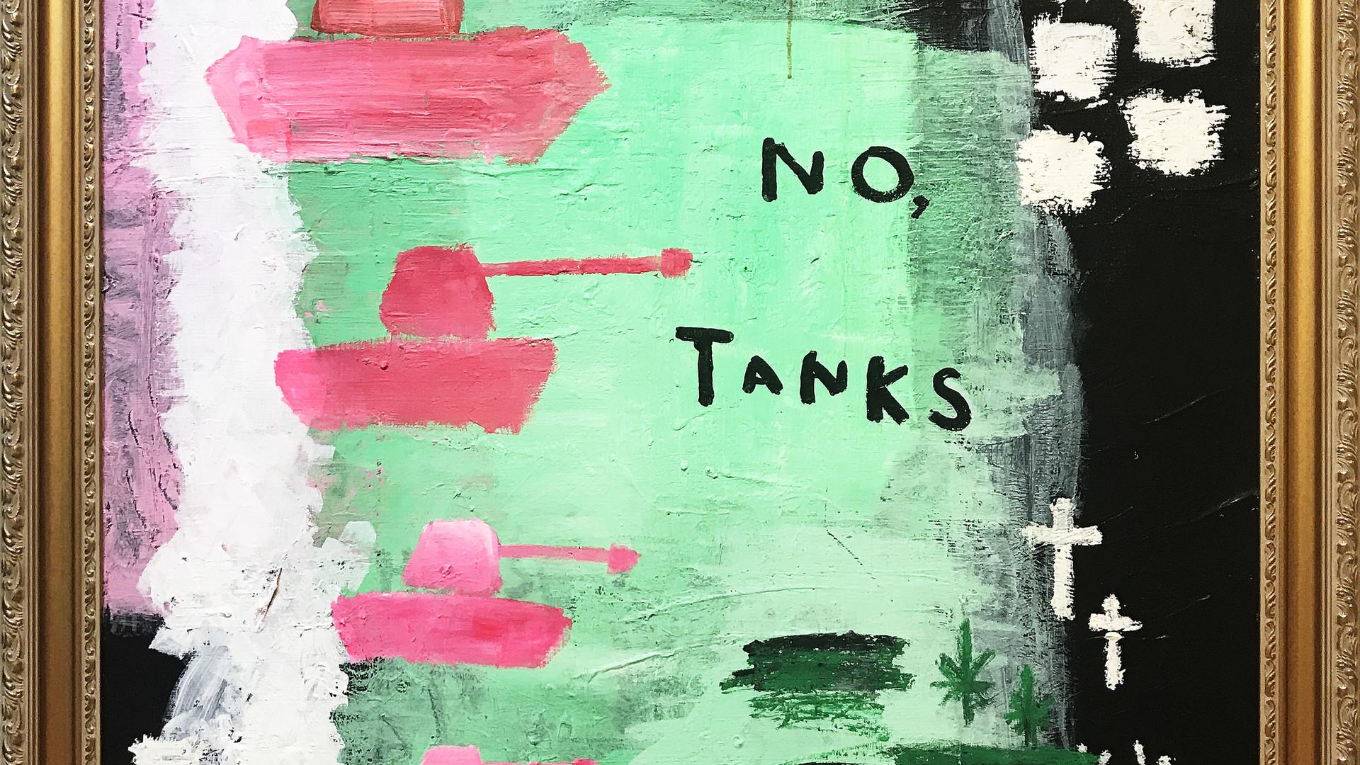 5 No Tanks, 2017, Mixed media on canvas,