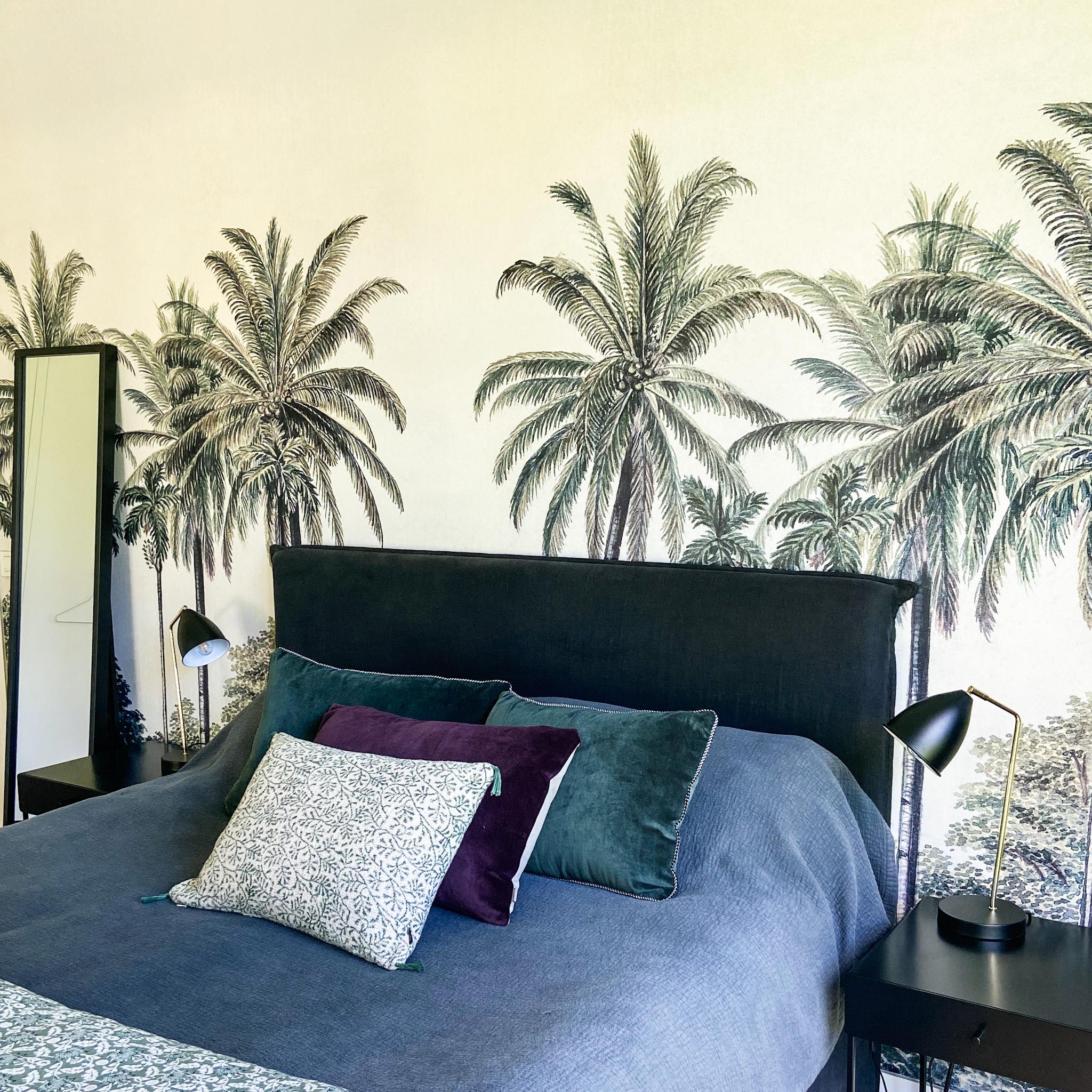 Tête de lit et coussins sur-mesure