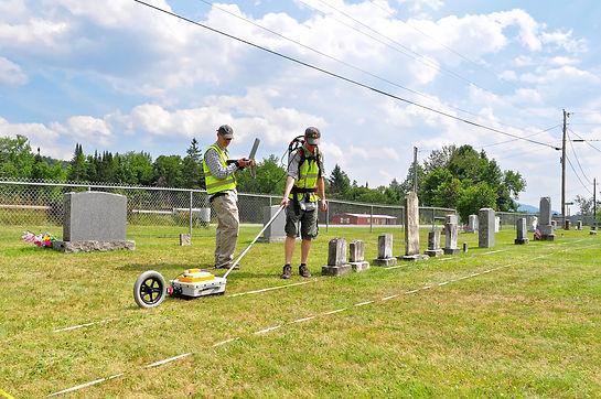 Horsley GPR survey Vermont cemetery