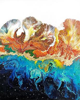 Oeuvre abstraite de l'artiste Mélyna Leclerc