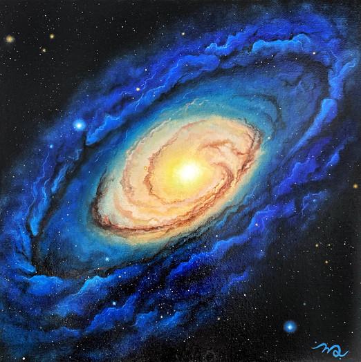 Oeuvre cosmic par Mélyna Leclerc artiste peintre