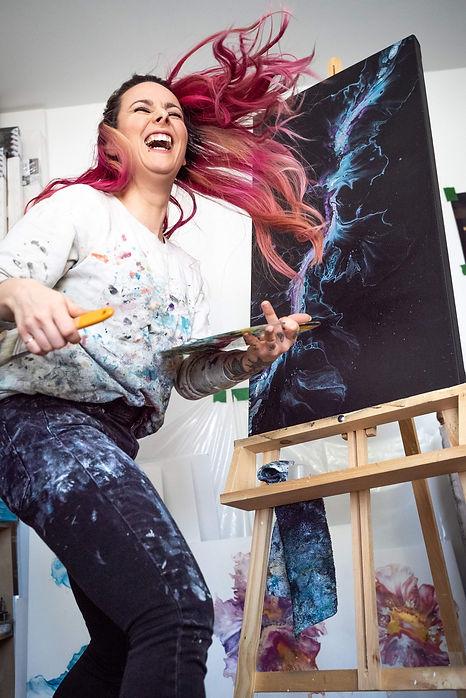 Mélyna Leclerc artiste peintre art abstrait