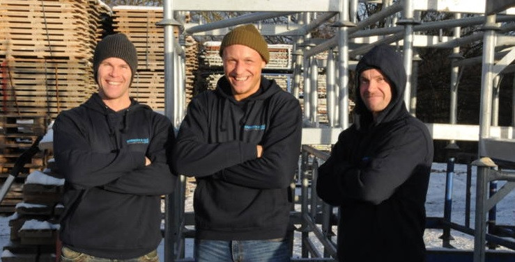 """Fra venstre: Bård Brenden, Jack """"The Joker"""" og Thomas Brenden"""