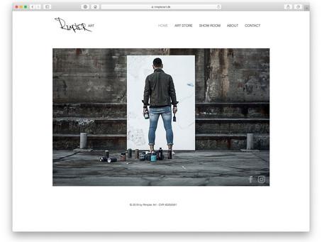 Stilren hjemmeside til kreativ kunstner
