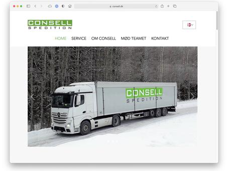 Consell Spedition nu med nyt website