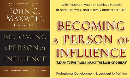 "Personal One-On-One Coaching ""Becoming a Person of Influence Workshop"""