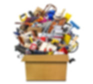 Rubbish Removal Gidea Park RM2, London - vector image of a box filled of old household rubbish