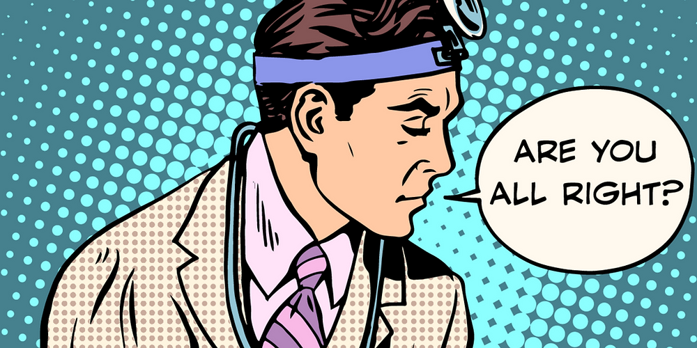 Pop Art - Doctor asking if you are okay