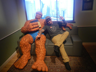 Hanging with Thing from Fantastic Four