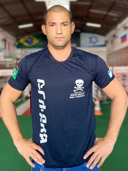 Camiseta Malha PV Krav Maga Caveira
