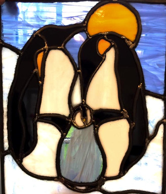 Penguin stained glass