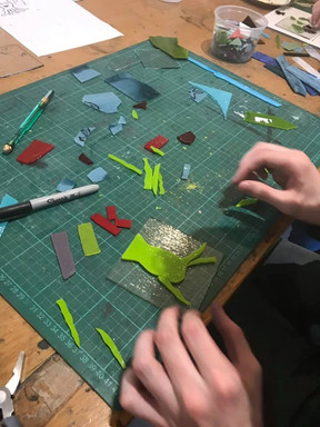 Working with fused glass