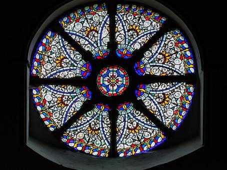 The Wheel Window - the crowning jewel of St Nicholas Church, Castle Hedingham