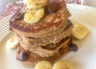 Vegan Gluten Free Banana Oat Pancakes
