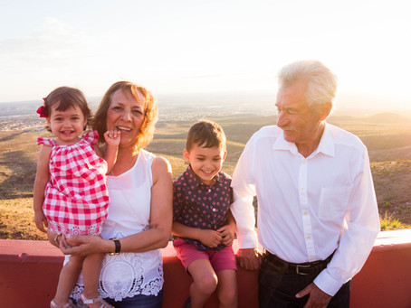 A Sunset in the Franklin Mountains: Grandparents Photo Session- El Paso, TX