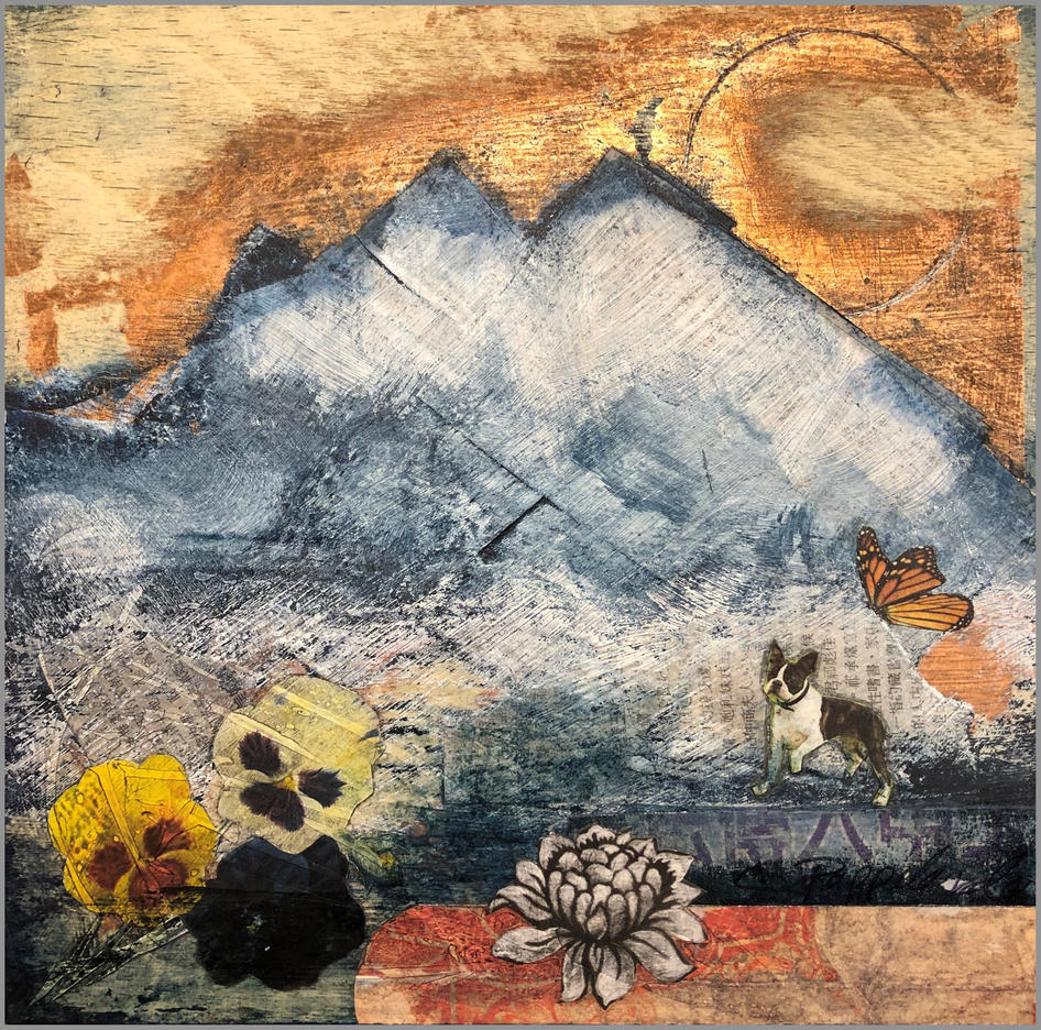 SOLD.Dog Tale VI ; Mai Ling came down the mountain, only to find an early Spring.