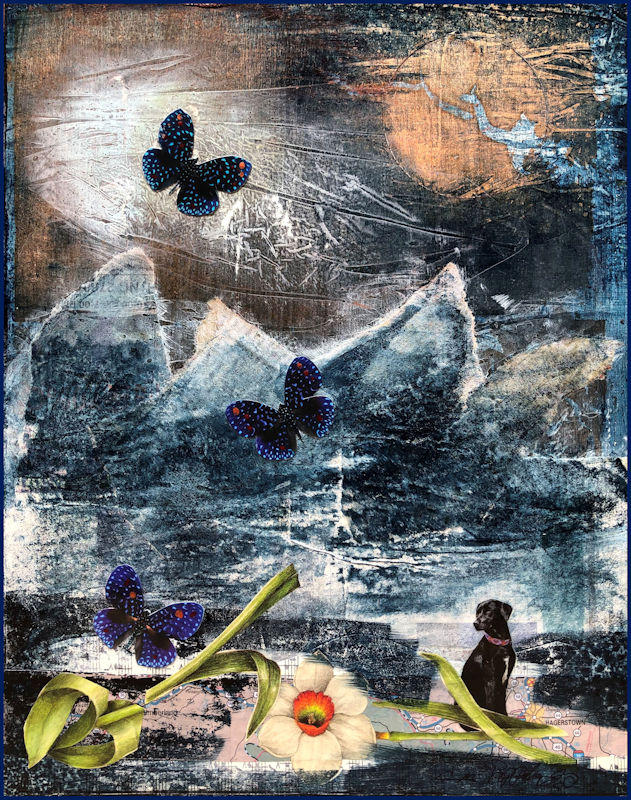 Dog Tale III; Eby knew to send the butterflies home.  Sold