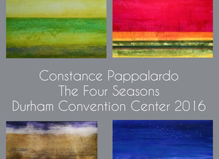 New color and black & white paintings at the Durham Convention Center!