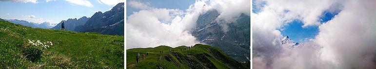 Inledde sommarsäsongen i Grindelwald, Schweiz