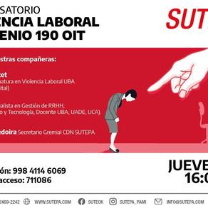 INVITACION - Conversatorio sobre Violencia Laboral - Convenio 190 OIT