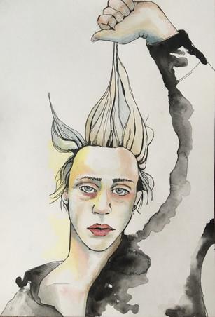 Pen, Ink & Watercolour A4