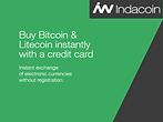 Indacoin mua bán Bitcoin Litecoin bằng thẻ tín dụng