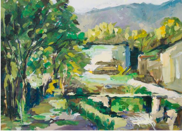 2009 Landscape Gouache Painting
