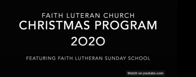 2020 Children Christmas Program
