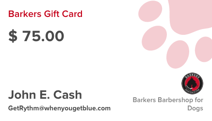 Barkers Barbershop for Dogs Gift Card