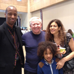 With Max Mace, wife and son